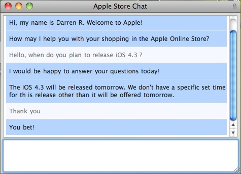 apple support chat