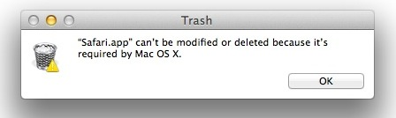 safari cant be deleted