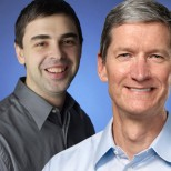 Tim Cook Larry Page
