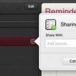 Apple iCloud Reminders inline