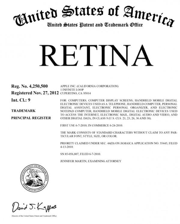 Retina trademark