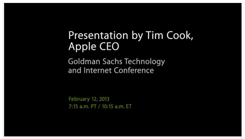 tim cook presentation goldmansachs 2013