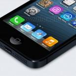 Bottom iPhone 5 iOs 7 icons mockup