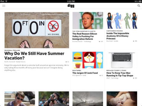 Digg for iPad 1