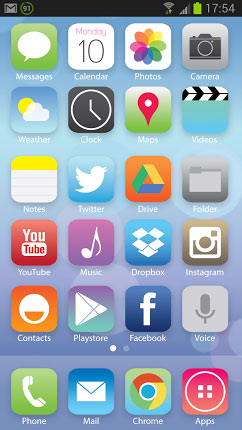 android ios 7 icons
