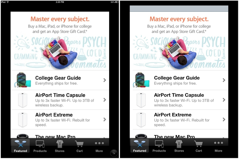 Приложение на iphone и ipad одновременно
