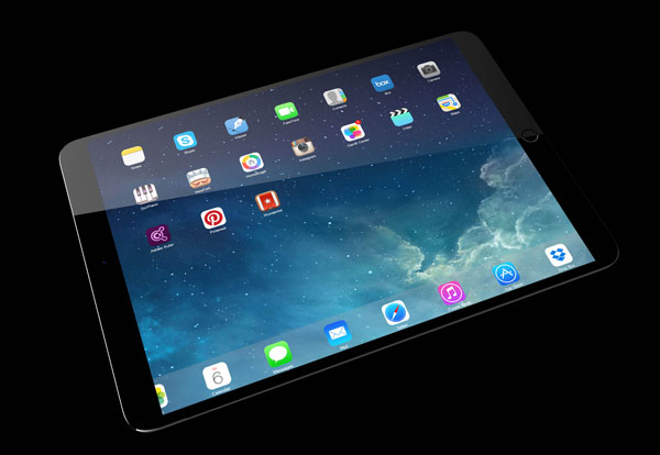 iPad pro concept Ramotion Top view