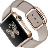 Apple Watch pink gold leather large