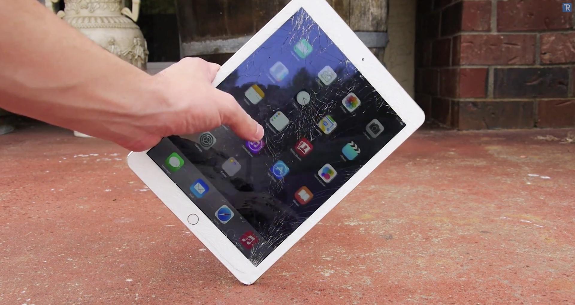 iPad Air 2 drop test 001