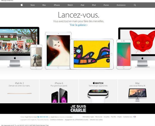 Apple Je Suis Charlie