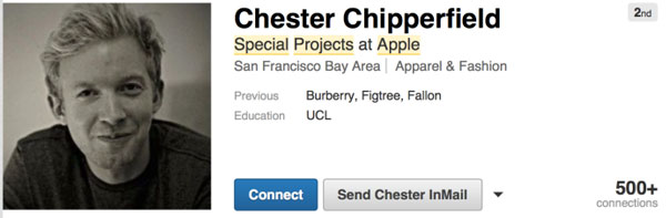 Chester Chipperfield LinkedIn profile