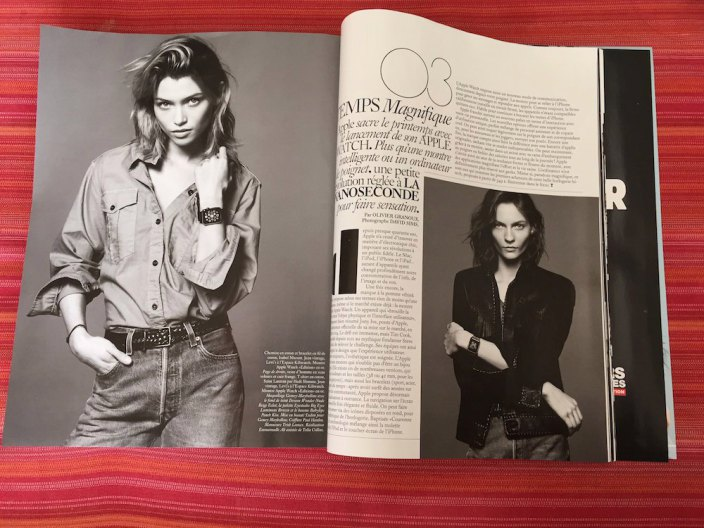 apple watch dans magazine mode france mars 2015 1