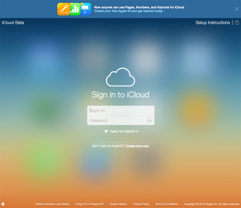 iCloud beta 2