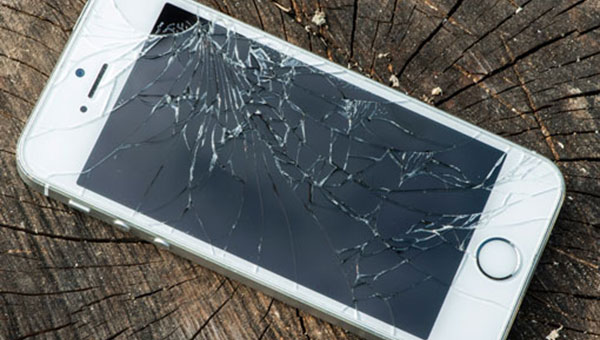 broken iphone glass