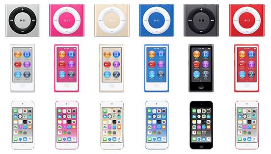 ipod 2015 colors