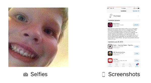 selfies screenshots