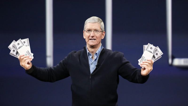 apple tim cook money