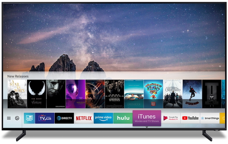 samsung tv itunes app