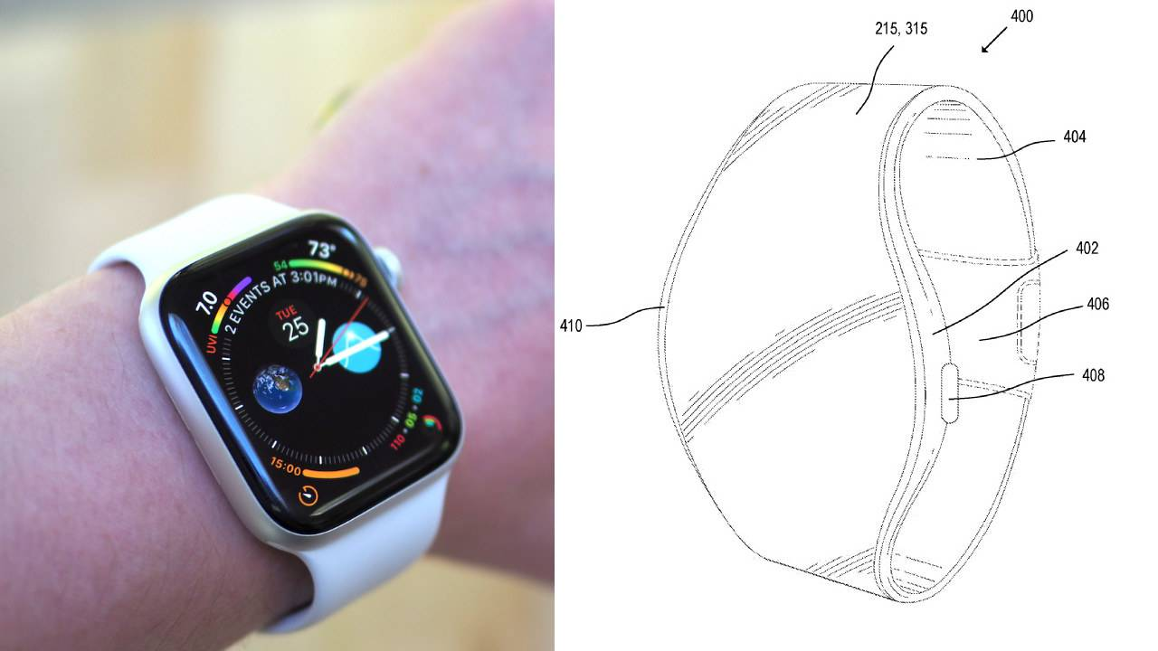 apple microled flexible apple watch patent 1