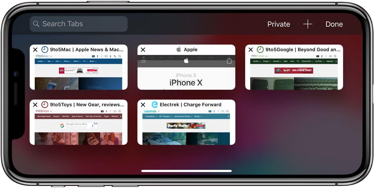 how to show icons safari tabs iphone ipad ios 12 41