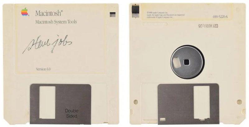 steve jobs signed floppy disk