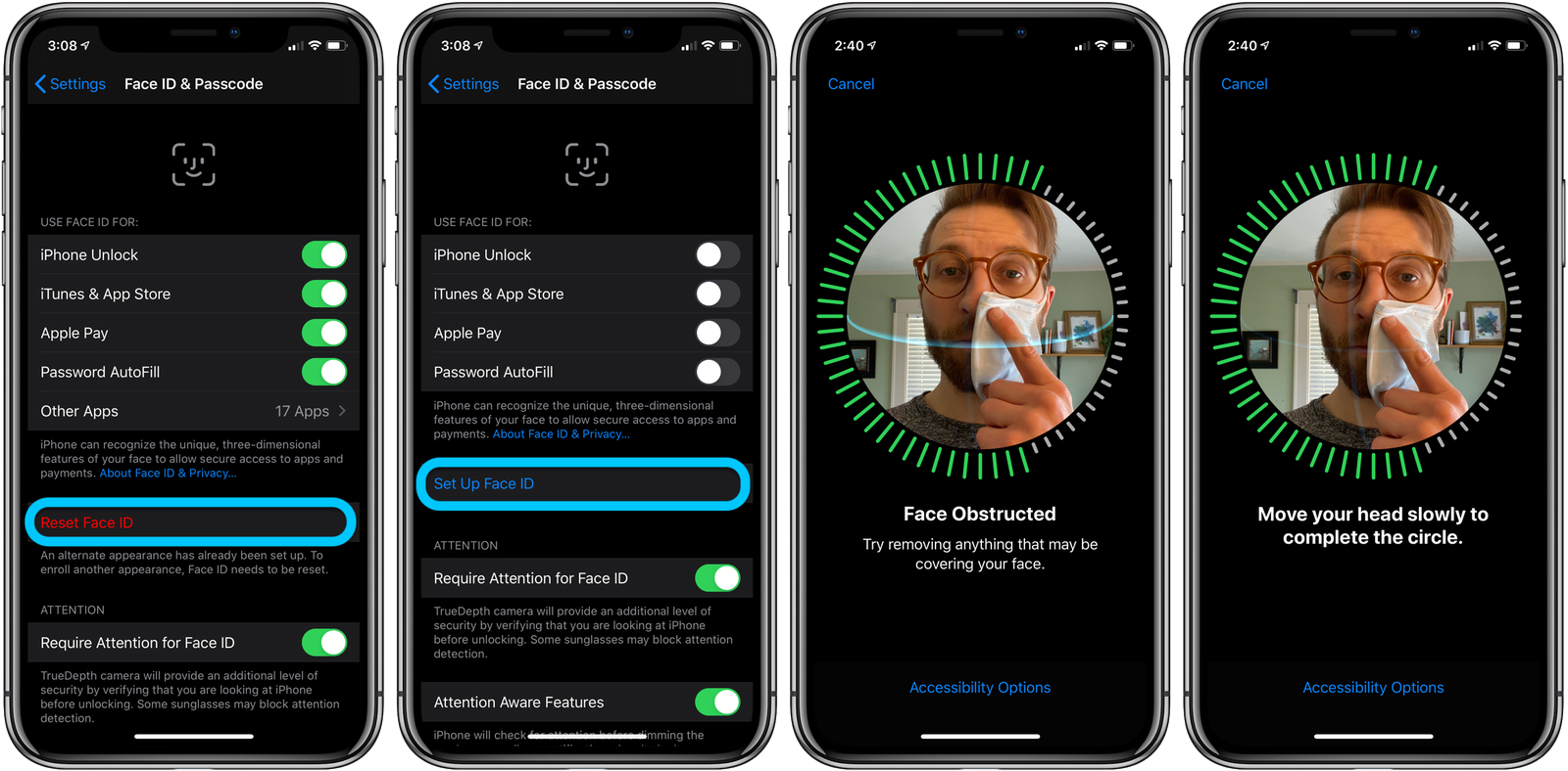 how to use iphone face id with mask walkthrough 1 1586412374