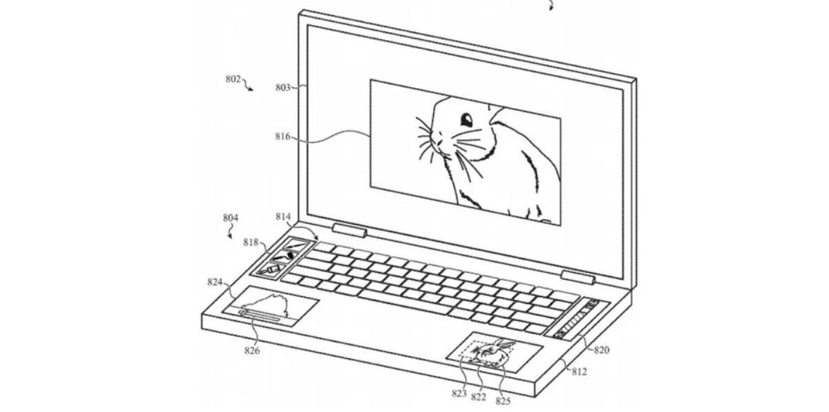 Патент MacBook Pro с пятью экранами