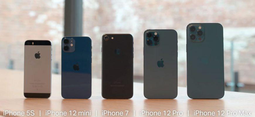 iphone 12 размеры